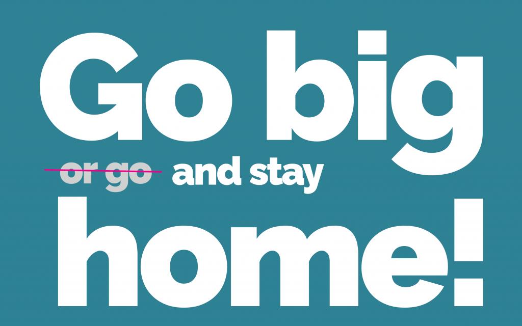 Go big text