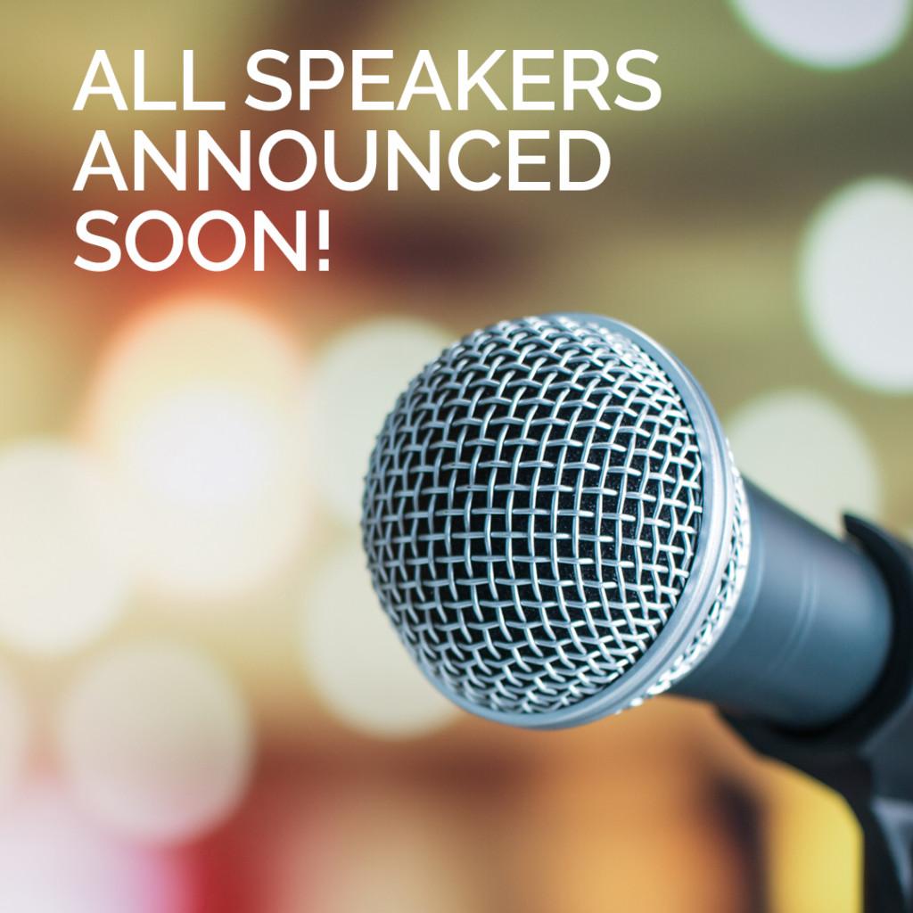 Speakers announcement