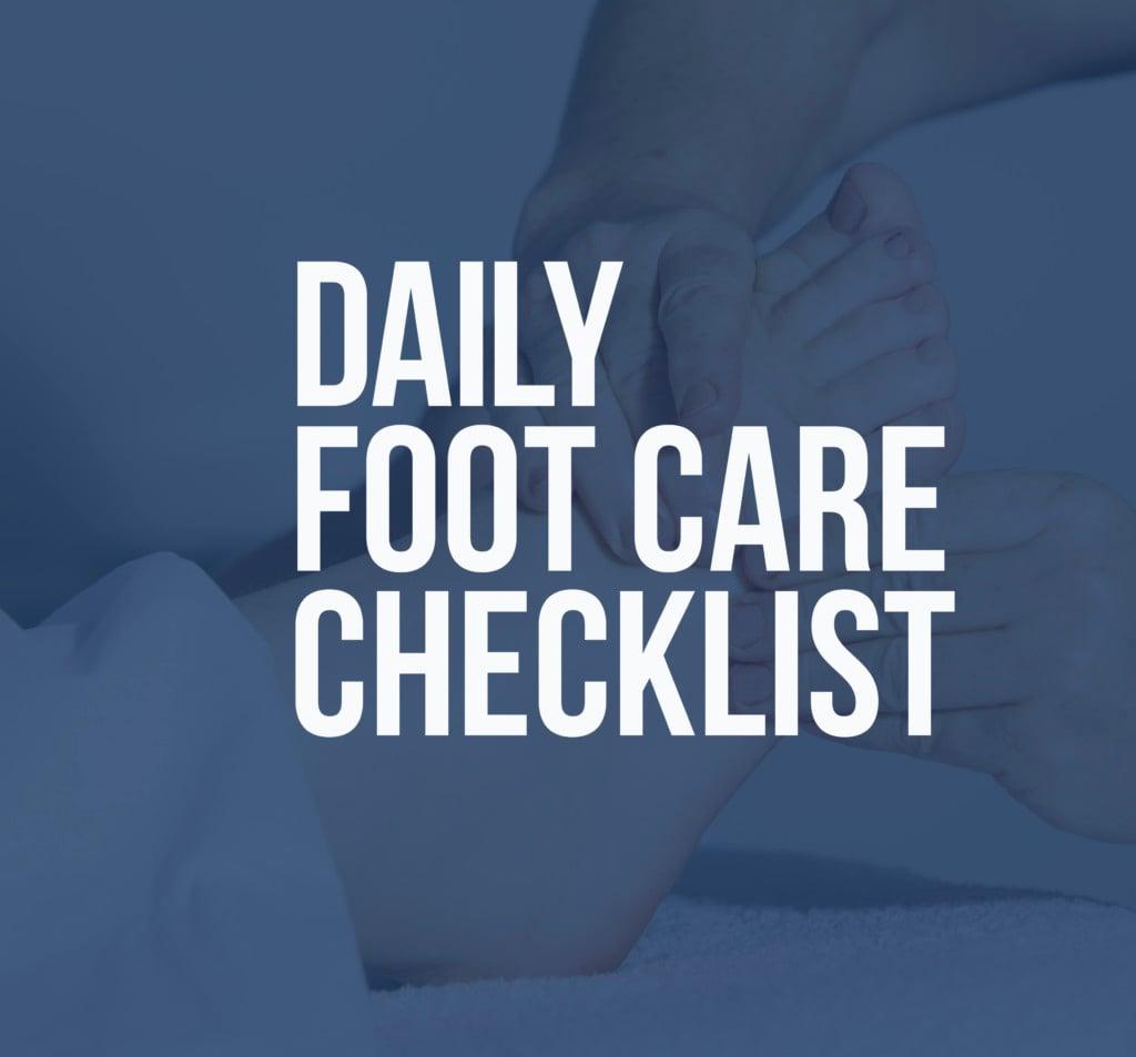 Dailyfootcare checklist