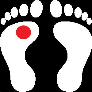 white-human-footprints-red